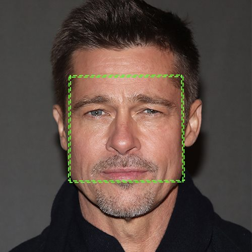 Brad Pitt, visage en carré